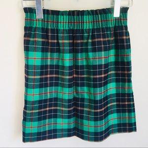 J. Crew Wool Plaid Sidewalk Skirt